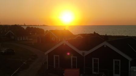 Sonnenaufgang von der Ferienunterkunft aus