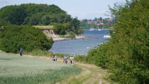 Radweg entlang der Ostseeküste